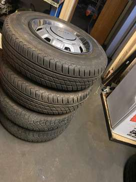 SET OF TOYOTA RIMS AND TYRES (x4) 165/80/ 13