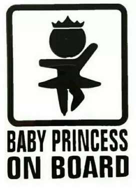 Baby on board car vynal new