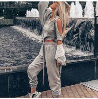 Новый!Костюм спортивный тройка серый прогулочный модный 2018 Gucci