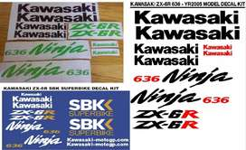 2005 Kawasaki  ZX 6R 636 motorcycles stickers decals graphics