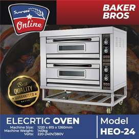 HE0-24 2 DECK 4 TRAY ELECTRIC BAKING OVEN