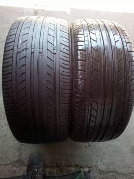 Second hand tyres  195/50 R 15 tread almost new x2 { Sumitom