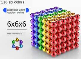 5MM 216 Pieces Multicolored Magnetic Balls Magnetstoys