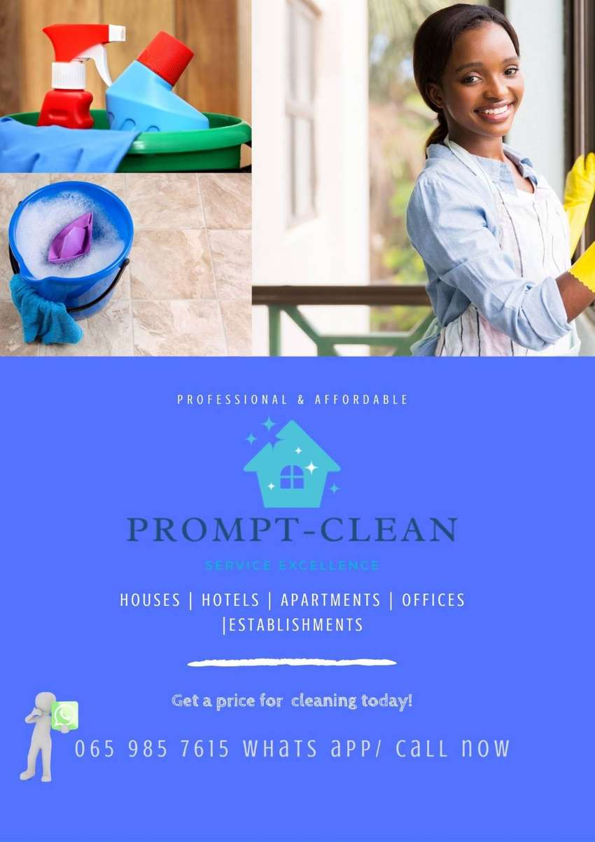 Prompt cleaning services