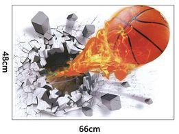 Naklejki ścienne na ścianę Piłka 3D Koszykówka WS-0144