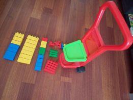 Тачка с конструктором как новый игрушки