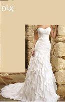 Suknia ślubna rozm.36, indywidualny projekt,uszyta w prac. P. Pardyka