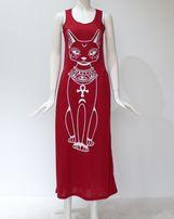 Длинное платье кошка
