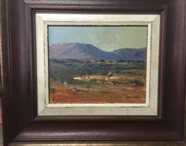Louis Audie - Original Oil Painting Double Wood Frame size 66x44cm