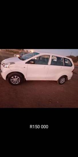 White Toyota, avanza,it is a 1,3 engine, year model 2012