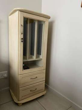 CD rack with DVD drawers. Good condition!