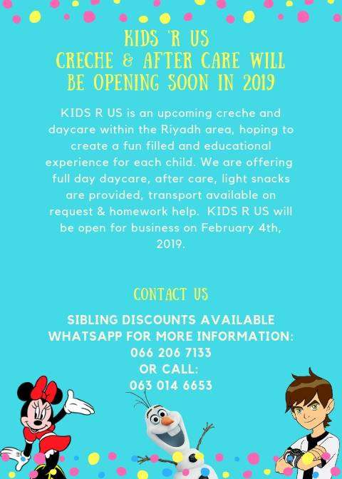 affordable daycare / creche in the Riyadh Area 0