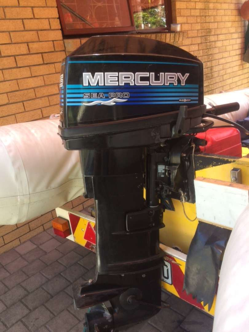 25hp Mercury Duck and trailer 0