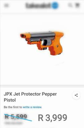 JPX Jet Protector pepper pistol with 2 x cartridges