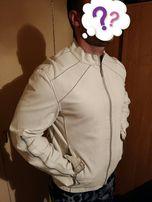 Куртка кожа M L Motor мужская молочная демисезонная осенняя весенняя