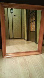 Nowe lustro w drewnianej ramie 58x70cm(2xpo90zł/szt