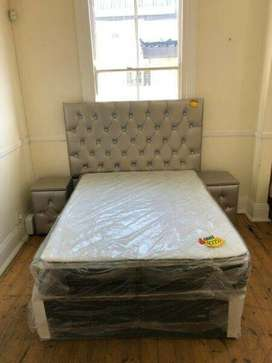 Classic Pillowtop Double Bed and Headboard Set for Sale!