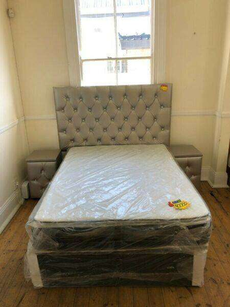 Classic Pillowtop Double Bed and Headboard Set for Sale! 0