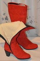 Сапоги красные зимние женские (новые) Monte Polar - Made in Spain