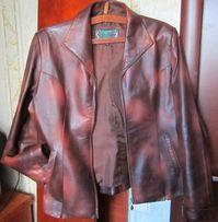 Отличная кожаная куртка-пиджак