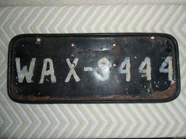 chybStara przed wojenna lub zaraz po tablica rejestracyjna - z Warszaw