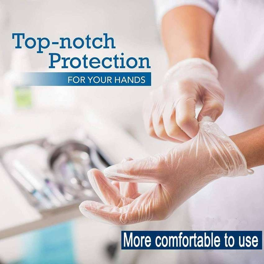 Protective Vinyl Gloves Disposable Latex-free powder-free NEW Products 0