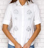 Koszula damska, bluzka koszulowa, biała