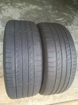 2x Good 2hand 225/45/R18 Continental Runflat tyres