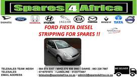 FORD FIESTA DIESEL STRIPPING FOR SPARES