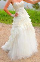 Suknia ślubna długa odpinana do mini rozm. M 164-175 cm.