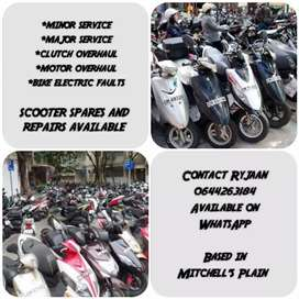 Scooter spares and repairs available