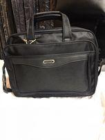 Чоловіча , мужская сумка с отделением для ноутбука Gorangd цвет черный