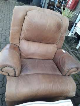 Leather 1 Seater Couch