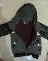 Курточка демисезонная, теплая 110см