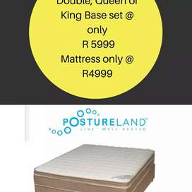 Postureland(the heavenly base set),Mattress only available as well