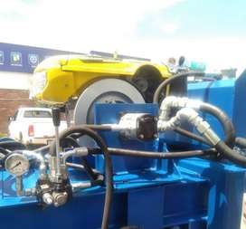 Diesel engine bailing machine