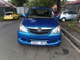 TOYOTA AVANZA WITH AN ENGINE CAPACITY 1,5