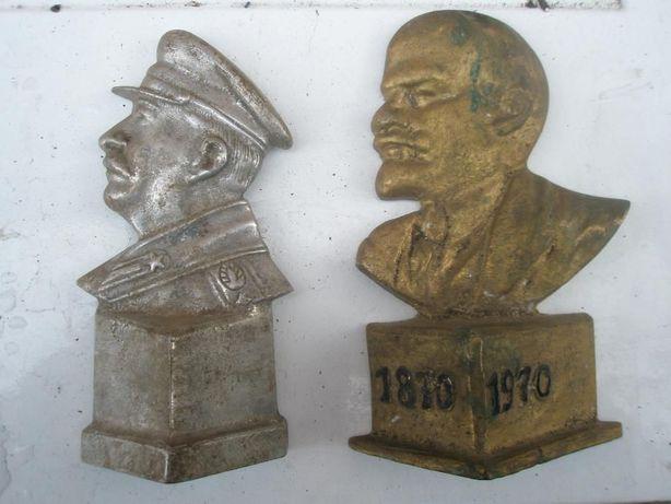 Бюст Сталина и Ленина