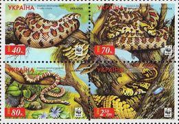 Почтовые марки Украины 2002г. / Поштові марки 2002р.(кварт блок) ФАУНА