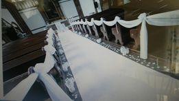 Akcesoria do dekoracji kościoła i sali wesel ej