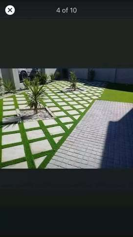We install artificial grass and paving around Western Cape