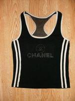 Koszulka bokserka czarno-biała -CH.