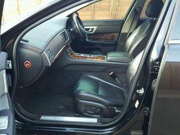 Jaguar XF 2009r Skóra Fotele Kanapa Boczki Kpl SKÓRY sedan czarne