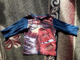 Реглан футболка с рукавами тачки на 2-3 года