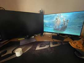 "2 x Dell 27"" monitors  1920x1080@60hz"