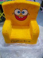 Детское кресло мягкое Спанч Боб
