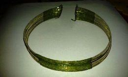 Naszyjnik-obroża etniczna, ozdobna, zielona.
