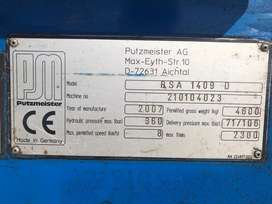 2007 Putzmeister Stationery Concrete  Pump 1409D