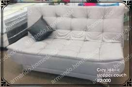 New grey fabric material sleeper couch