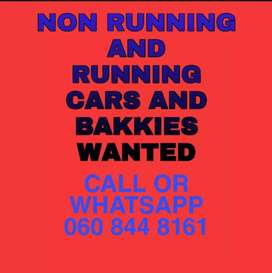 Used Non-Running Cars and Bakkies Wanted